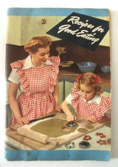 1940s Recipe Book for Baby Boomers // Angel Wing by JackpotJen, $9.50