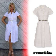 Shop Elena's Asimakopoulou white dress. The must- have piece for all summer occassions!