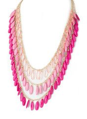 Pink Ombre Layer Necklace