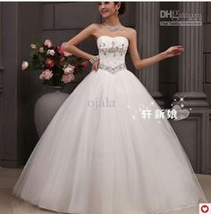 290 2016 Bridal Gowns Vestido De Noiva Fashion Sexy Beading Lace Up Sweetheart Ball Gown Wedding Dresses Floor Length Dresses Gothic Wedding Dresses From Ojala, $50.26| Dhgate.Com