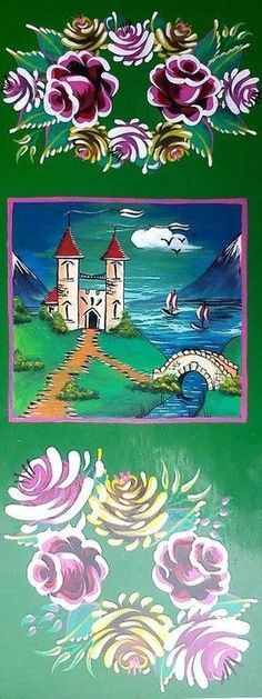 Roses & Castles - canalboat art l narrow boats l U.K.