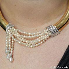Beautiful necklace with #culturedpearls #diamonds set in 18k #gold by ALFIERI & ST JOHN ●♢● #goldnecklace #blissfromparislovespearls #jeweleryblog#blissfromparis #jewelrygram #jewelleryaddict #jeweloftheday #jewelryauction #tajanauction #love#art #beautiful #accessoires #accessory #instajewelry #madeinitaly #italianstyle #italiandesign #jeweloftheday #jotd #pearls