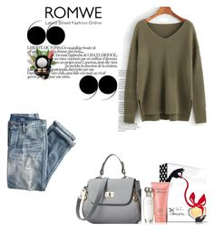 """""""Romwe"""" by anida-8 ❤ liked on Polyvore featuring J.Crew, Estée Lauder, Wet n Wild, VOV and MAC Cosmetics"""