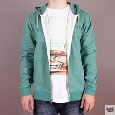 Zielona bluza rozpinana z kapturem Quiksilver Major Zip Bayou - - kolekcja Fall/Winter 2014 / www.brandsplanet.pl / #quiksilver