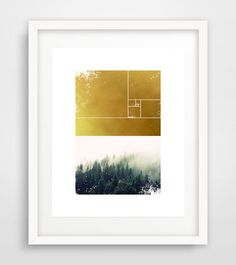 NOTE:  Love this. Check Site for More<3 Gold forest print Forest wall print Geometric Wall by Ikonolexi