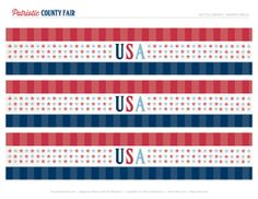 FREE Printables: All American County Fair July 4th Party