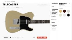 Fender's Mod Shop lets you customize a new guitar on the web  Typically, ordering a custom guitar not only means spending more money, but it usually means an extended wait as well.  Fender  has a solution for both of those issues, taking a cue from the likes  Motorola  and other companies that have offered customers the ability to tweak the design of a product or device before ordering. With the Mod Shop, Fender will let you put the finishing touches on a Stratocaster, Telecaster, Pr..