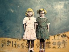 polkadots by Maudstarr, via Flickr - mixed media art by Canadian artist Heather Murray
