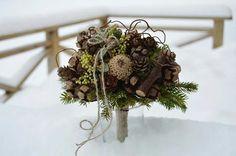vánoční kytice ve svatebním stylu