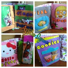 Silent Book for kids - using felt fabric