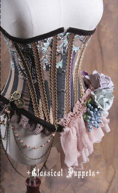 406afe99093 Classical Puppets Steam World Lolita Short Corset Steampunk Clothing