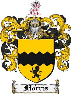 $7.99 Morris Coat of Arms Morris Family Crest Instant Download