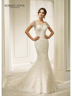RONALD JOYCE 69216 Hadara Fit And Flare Lace Wedding Dress Ivory/silver