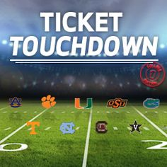 Remember to visit again tomorrow for another chance to win tickets! Share your excitement for college football today by using #VZTicketTDSweeps.