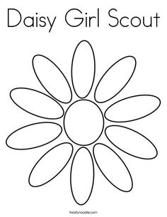 Daisy Scouts coloring pages