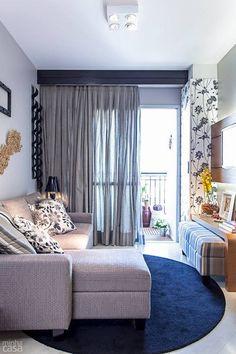 Apartamento de 63m - Decoração da sala de estar - Revista Minha Casa