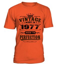 1977 Aged To Perfection  #gift #idea #shirt #image #funny #thankinggiving #heart  #art  #bestfriend #mother #father #new #birthday #christmas