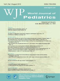 World Journal Of Pediatrics is a quarterly journal published by Children's Hospital, Zhejiang University School of Medicine, China. It aims to publish peer-reviewed original papers, reviews and editorials concerned with clinical practice and research in pediatrics. All submitted papers are reviewed by at least two referees expert in the field of the submitted paper. The journal is abstracted and indexed in SCI Expanded, IM/MEDLINE, Chemical Abstracts (CA) and VINITI database.