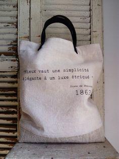 Image of Sac Basique à Message - Réversible {SBM-05.02}