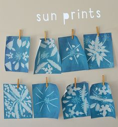 Sun prints are so easy, fun, and exciting to make with kids. They are also calle… Sun prints are so easy, fun, and exciting to make with kids. They are also called cyanotypes and can be made on fabric as well as paper. Arts And Crafts For Teens, Art And Craft Videos, Arts And Crafts House, Easy Arts And Crafts, Crafts For Kids, Easy Art For Kids, Kids Fun, Easy Art Projects, Projects For Kids