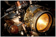 Motorcycle Headlight ~ Photo by...?