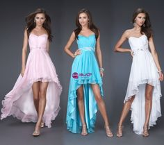 Stock+Chiffon+high+low+Bridesmaid+Prom+Ball+Evening+Dress+Size+6-8-10-12-14-16+#Unbranded+#highlowDress+#Cocktail