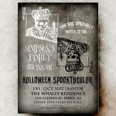 17 best halloween invitations images on pinterest halloween party