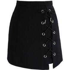 Chicwish Stylish Tie Bud Skirt in Black