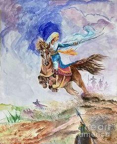 Featured Art - Mai Bhago by Sarabjit Singh Sarabjit Singh, Sikhism Religion, Guru Pics, Warriors Wallpaper, Art Hub, Religious Pictures, Moon Art, Art For Sale, Fine Art America