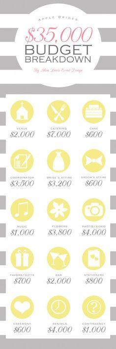 Budget Breakdown for a $35000 Wedding