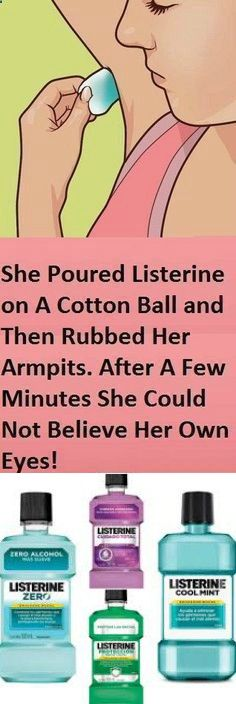 She Poured Listerine On A Cotton Ball And Then Rubbed Her Armpits. After A Few Minutes The Results - Health Advice Magazine Listerine, Herbal Remedies, Health Remedies, Home Remedies, Natural Remedies, Holistic Remedies, Headache Remedies, Health Tips For Women, Nail Manicure