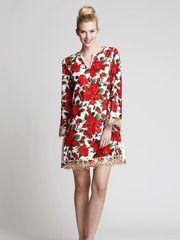The Beatrice Mini tunic in 50's Rose