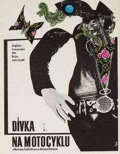 The Girl on A Motorcycle starring Alain Delon and Marianne Faithfull Polish Movie Posters, Movie Poster Art, Vintage Movies, Vintage Posters, Pop Art Artists, Unique Poster, Alain Delon, Original Movie Posters, Cinema Posters