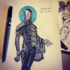 Piter De Vries, twisted mentat. Dune sci-fi concept artwork illustration by Tom Kraky.