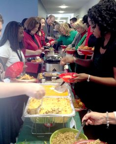 Sharing food and fun at The College of Nursing #CUHSLibrary