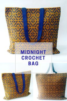 Crochet this special crochet bag with tapestry crochet technique.