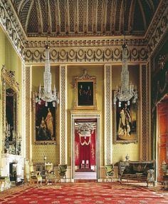 The Buckingham Palace inside interior.