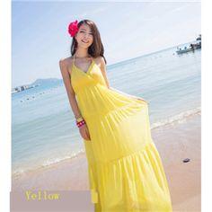Mr. Welles V Neck Bohemian High Waist Solid Color Maxi Beach Dress $18.50 http://www.4leafcity.com/v-neck-bohemian-high-waist-solid-color-maxi-beach-dress-product-20054.aspx