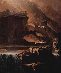 xo-skeleton:  John Martin,Sadak in Search of the Waters of Oblivion,1812 Oil on canvas, 183.2 x 131.1cm