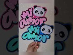 Amor Panda, Candy Boxes, Cake Toppers, Bullet Journal, Valentines, Diy Crafts, Handwritting, Day, Gifts