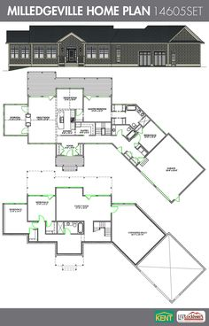 Sandalwood 4 bedroom 3 bath home plan features open concept living kitchen dining room a - Four bedroom houses great choice big families ...