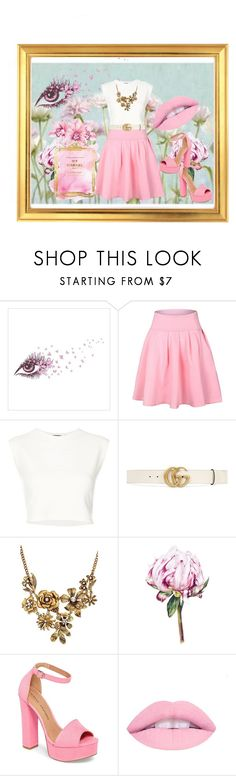 """""""Untitled #36"""" by mexicanchicken71 ❤ liked on Polyvore featuring Puma, Gucci, WithChic and Chinese Laundry"""