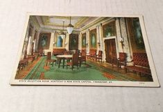 Vintage Frankfort Kentucky KY State Reception Room New State Capitol Unposted