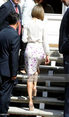 Queen Letizia attends audiences at Zarzuela Palace on September 3, 2015 in Madrid, Spain.