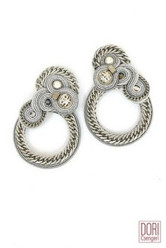 Xena edgy silver clip on earrings by Dori Csengeri  #DoriCsengeri #edgy #style…