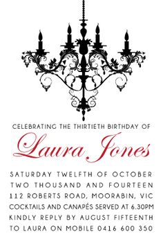 136 best adult birthday invitations party invitations images on birthday party digital printable invitation template chandelier dream filmwisefo