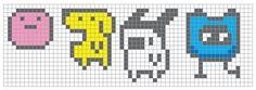 Tamagotchi cross stitch by ~coconut-lane on deviantART