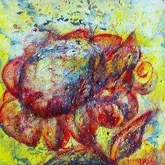 """Gemälde, vom Künstler direkt,  """"vivid imagination"""" Hajewski, Germany 2011, mixmedia: Oil, Acryl,Tempera auf Leinwand (echt Leinen), Größe: 20x20cm, mit Fixativ überzogen, signiert,"""