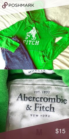 Abercrombie & Fitch Hoody jacket in green /size M Abercrombie & Fitch Hoody jacket in green /size M. Has light appearance of wear, it's in good condition! Jackets & Coats