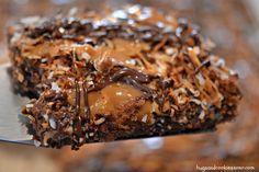 Samoa Cookie Sheet Cake